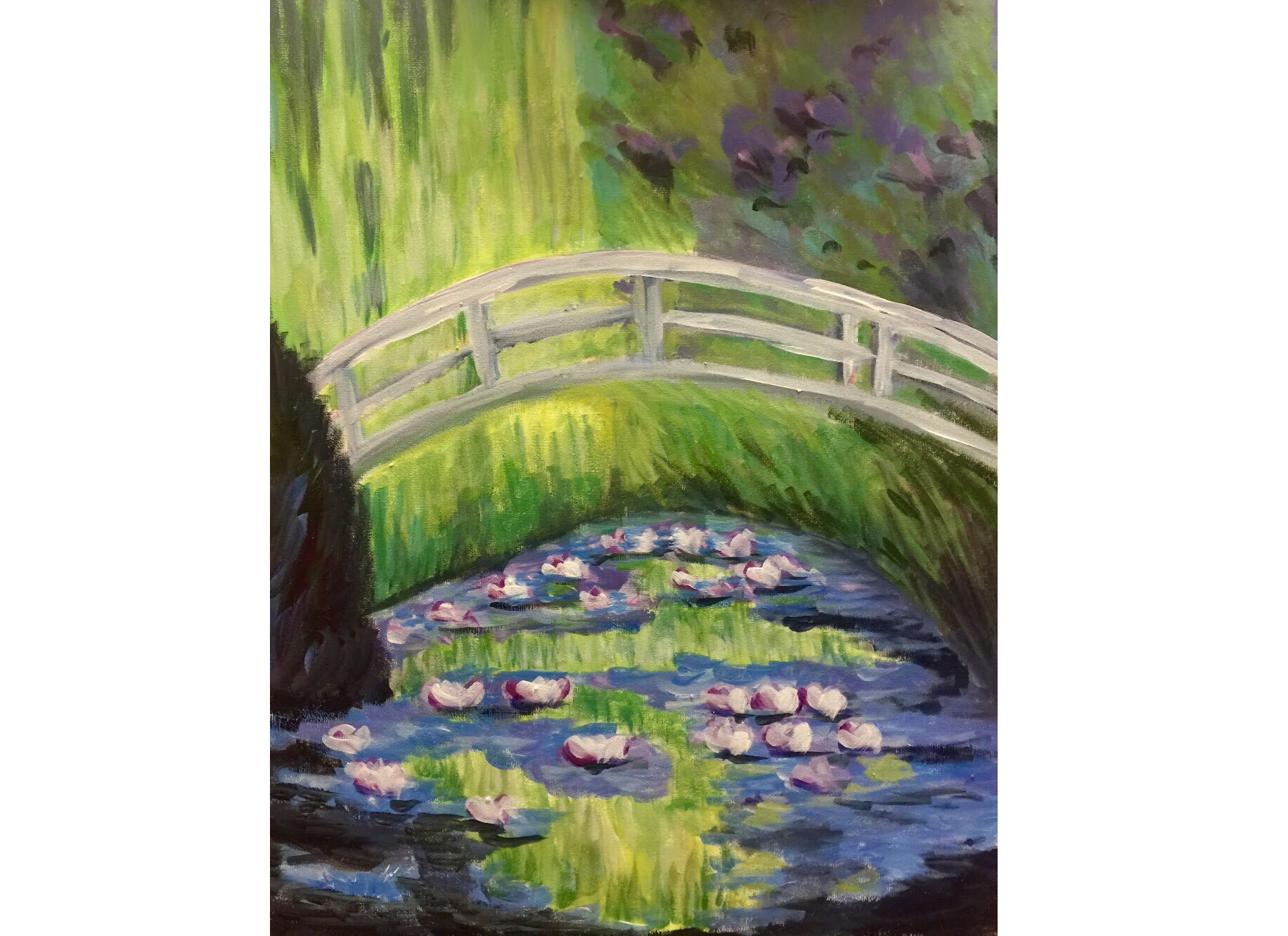 Garden Bridge By Monet Paint & Sip Night - Art Painting, Drink & Food