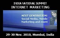 2nd Annual India National Summit Internet Marketing...