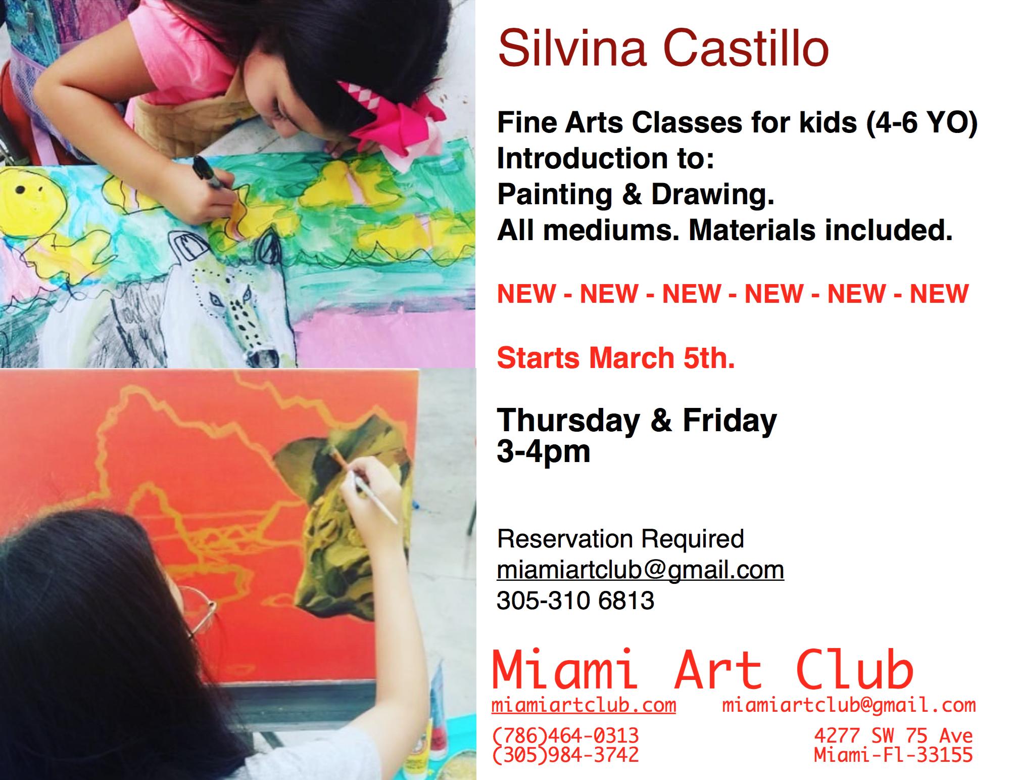 Fine Arts Classes for Kids (4-6yo)