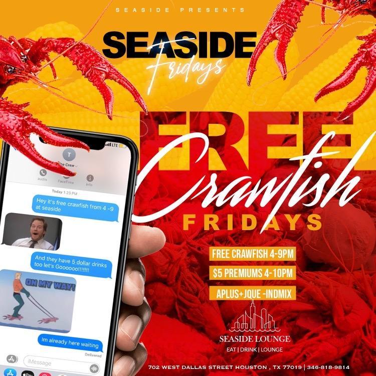 FREE CRAWFISH @ SEASIDE FRIDAY'S