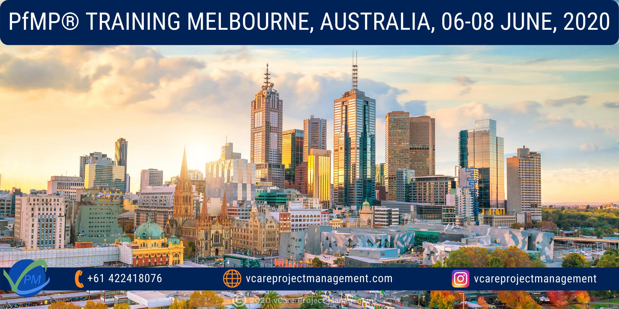 PfMP   Project Portfolio Management Training Course   Melbourne   June 2020