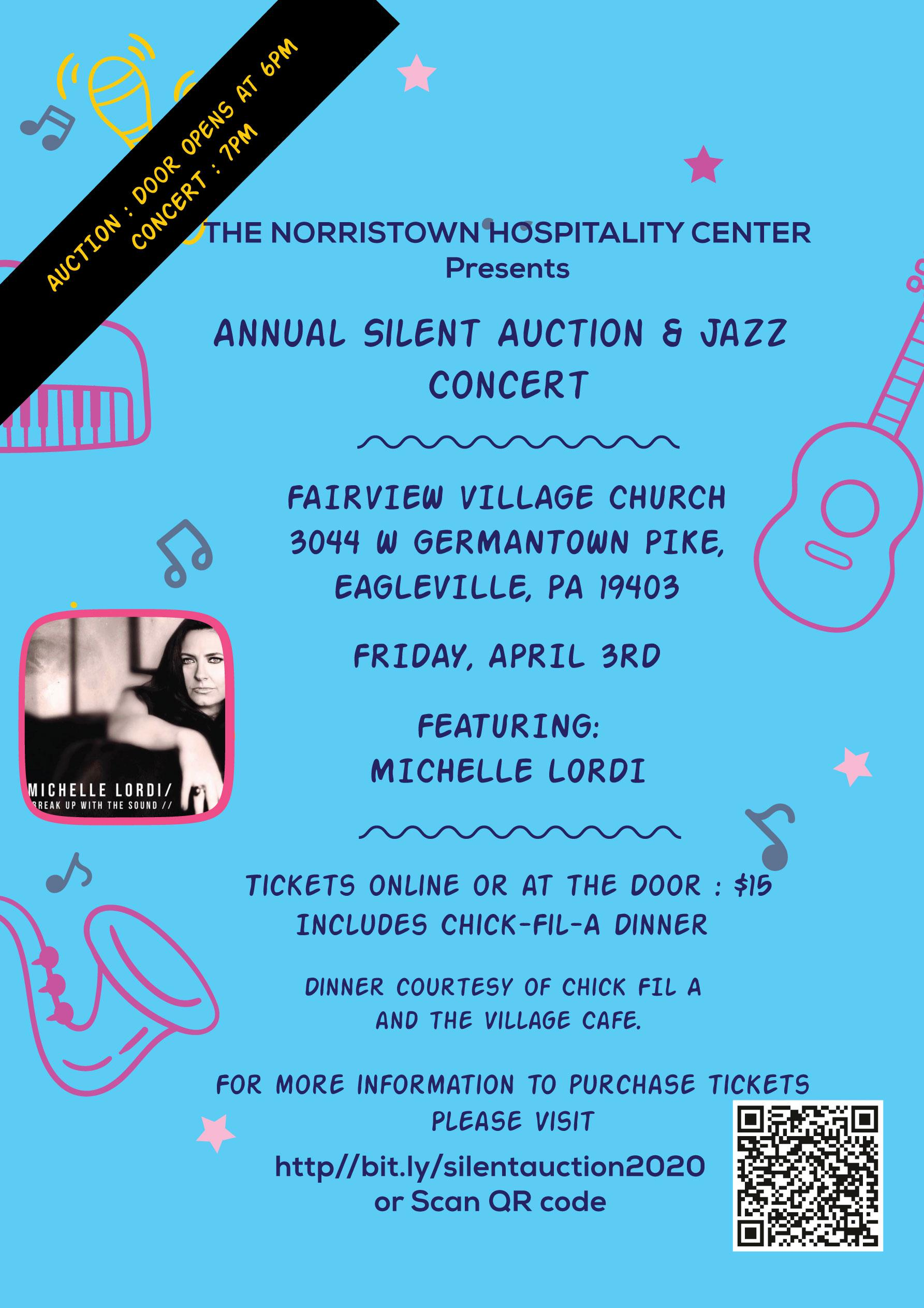 Norristown Hospitality Center 2020 Silent Auction & Concert