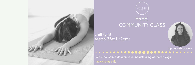CANCELLED-Free Community Class chill Yin Yoga