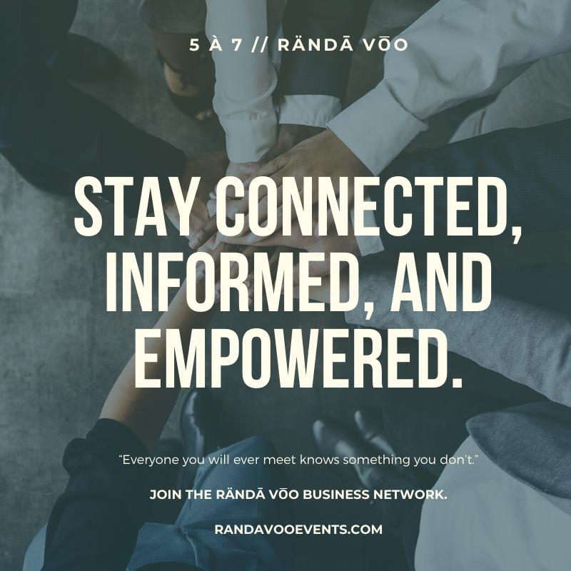 RÄNDĀ VO͞O | A premier business social for like-minds.