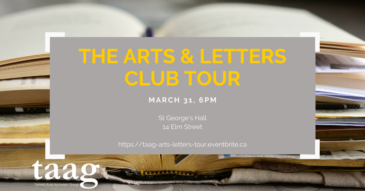 POSTPONED - TAAG Tour - Arts & Letters Club