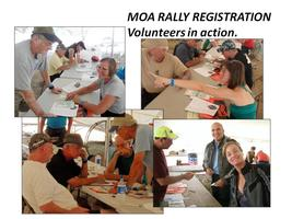 2013 MOA Rally Registration Volunteers   (See description...