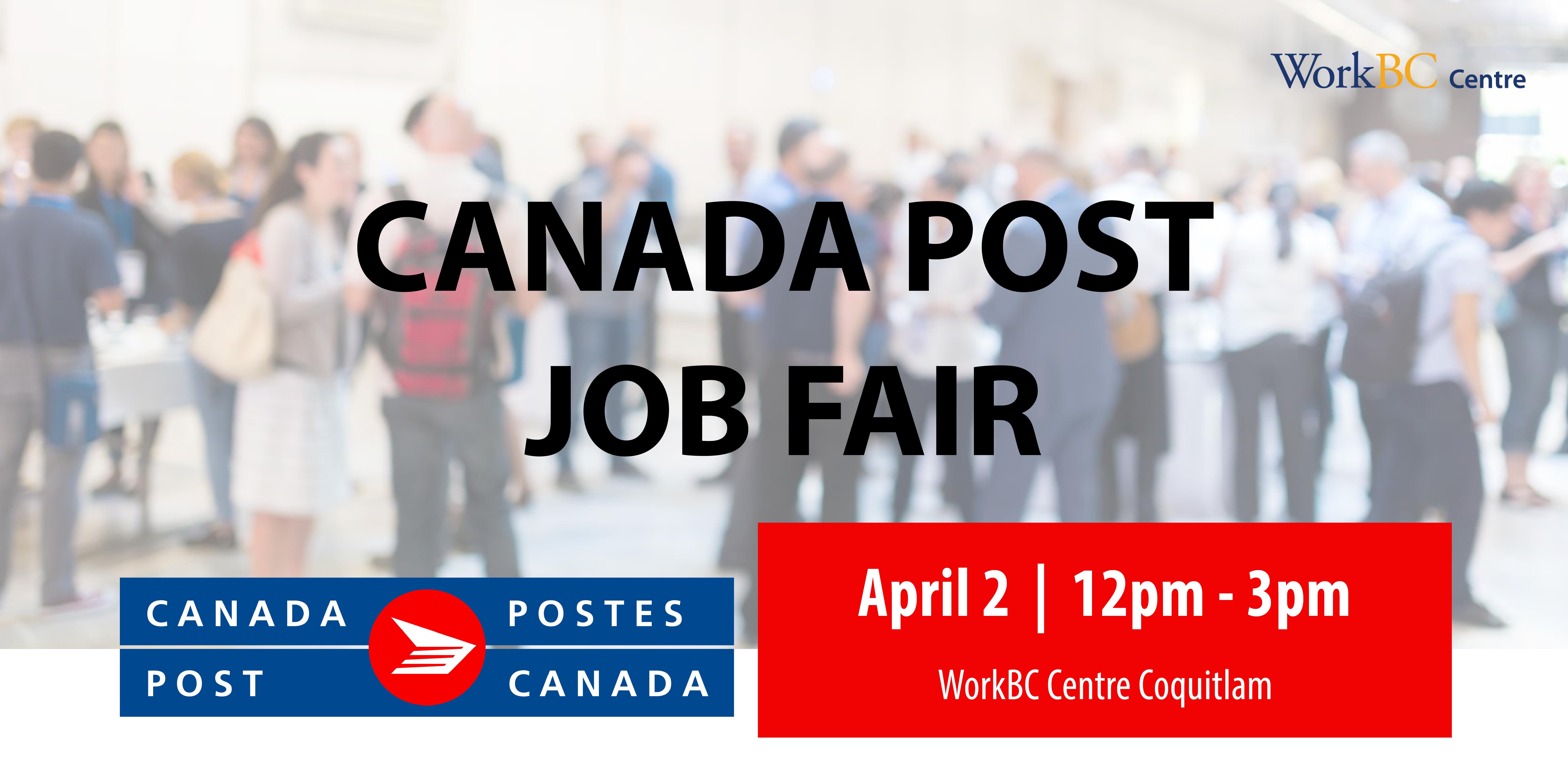 Canada Post Job Fair - Presented by WorkBC Centre Coquitlam