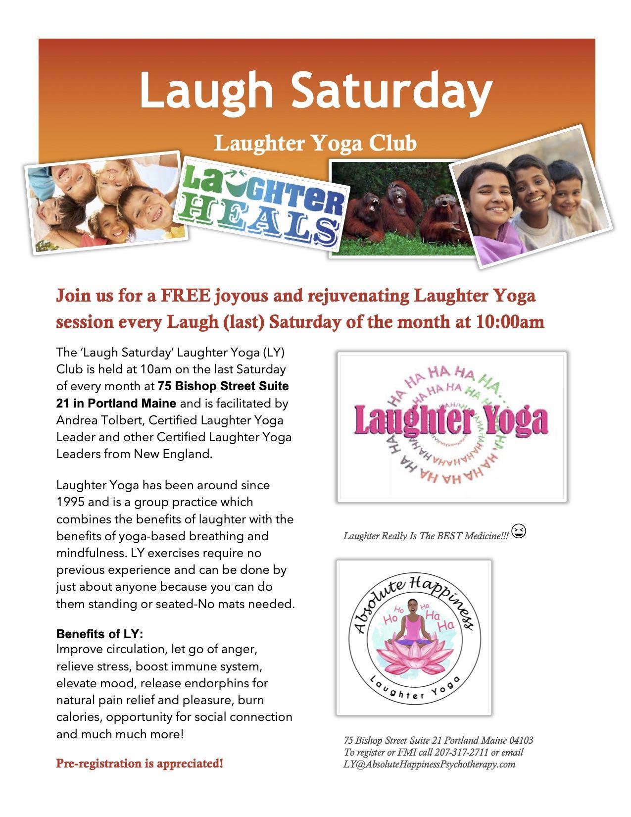 Laugh Saturday (Last Saturday) Laughter Yoga Club