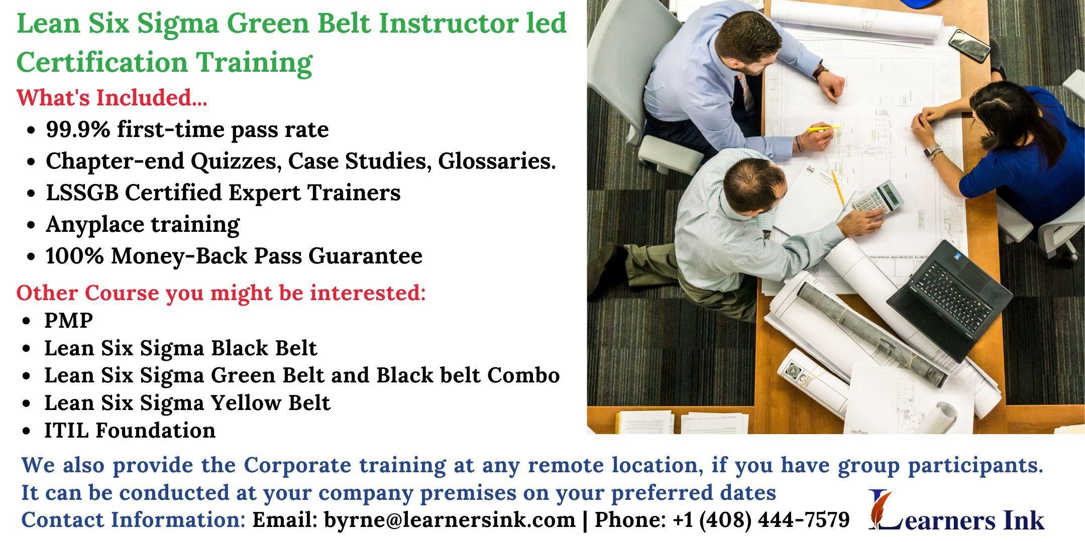 Lean Six Sigma Green Belt Certification Training Course (LSSGB) in Burbank