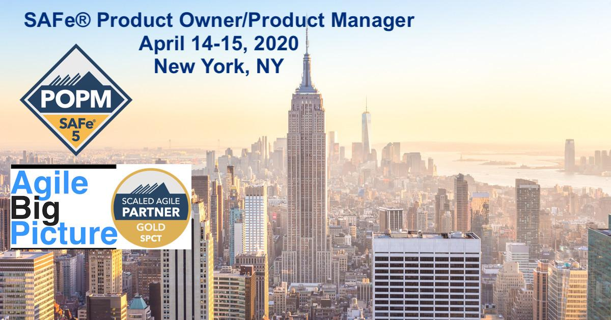 NYC - SAFe® Product Owner/Product Manager with POPM Certification