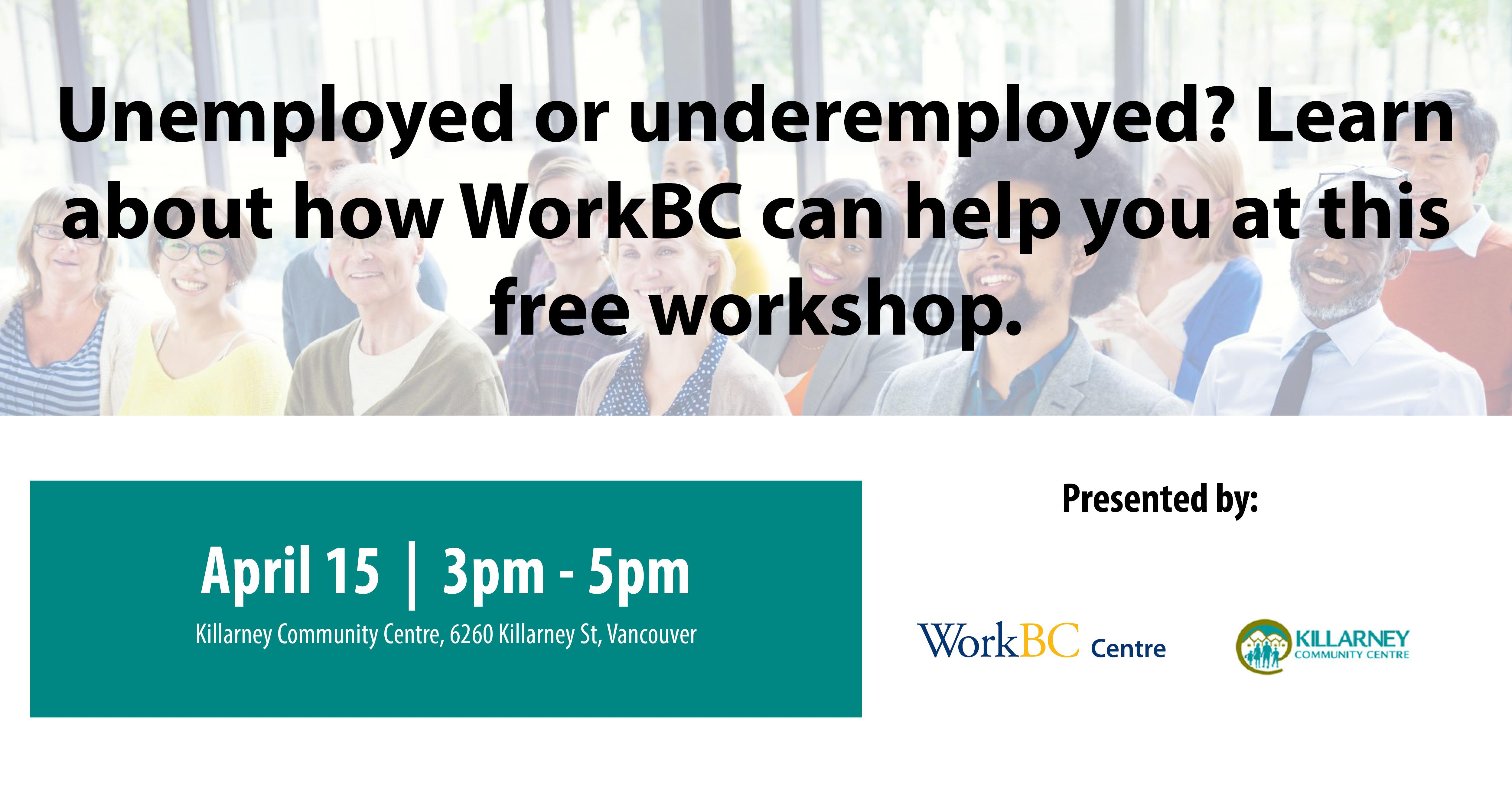 What is WorkBC? A Free Workshop (Killarney)