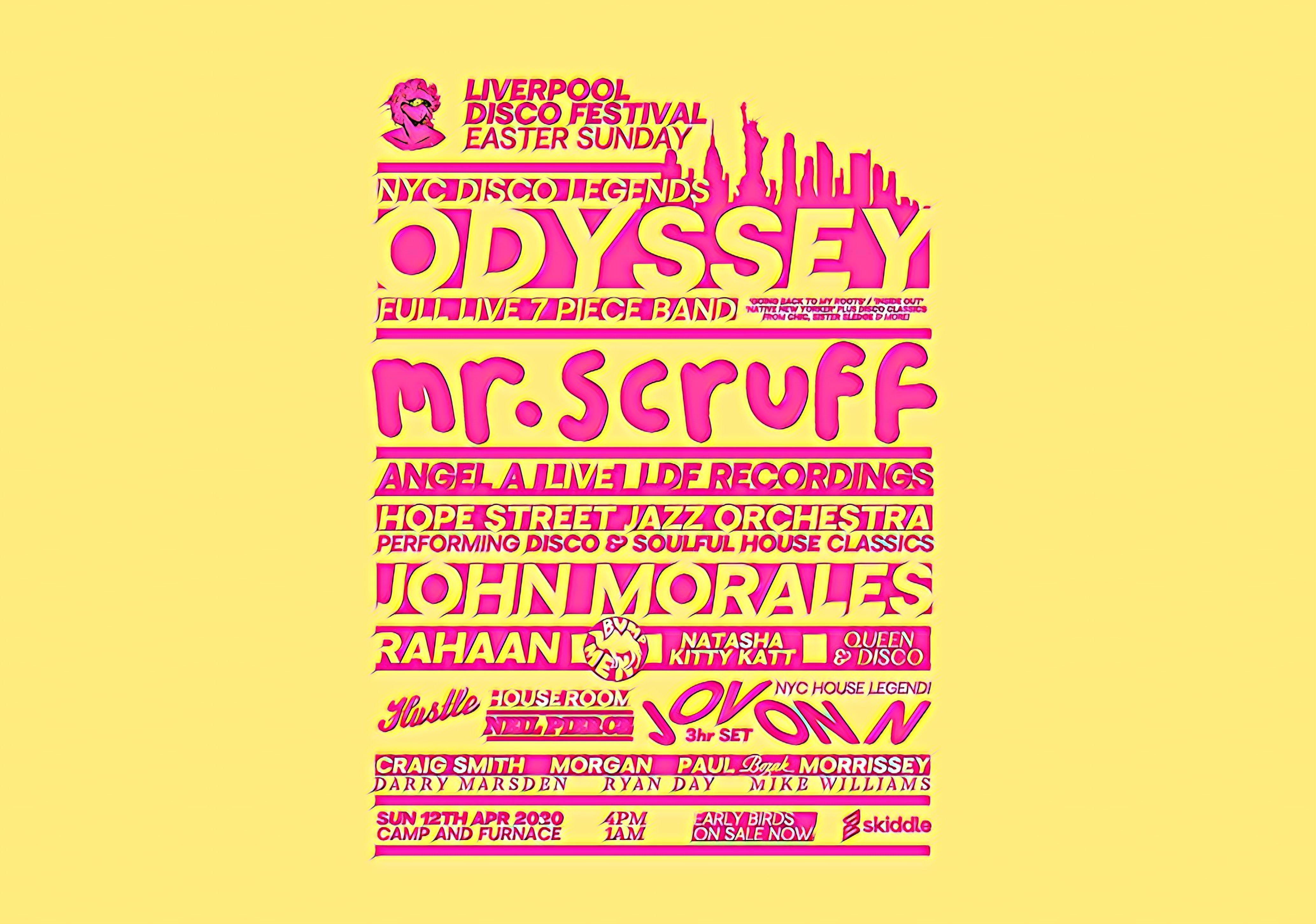 Easter Sunday with Odyssey (Live), Mr Scruff, John Morales, Jovonn & more