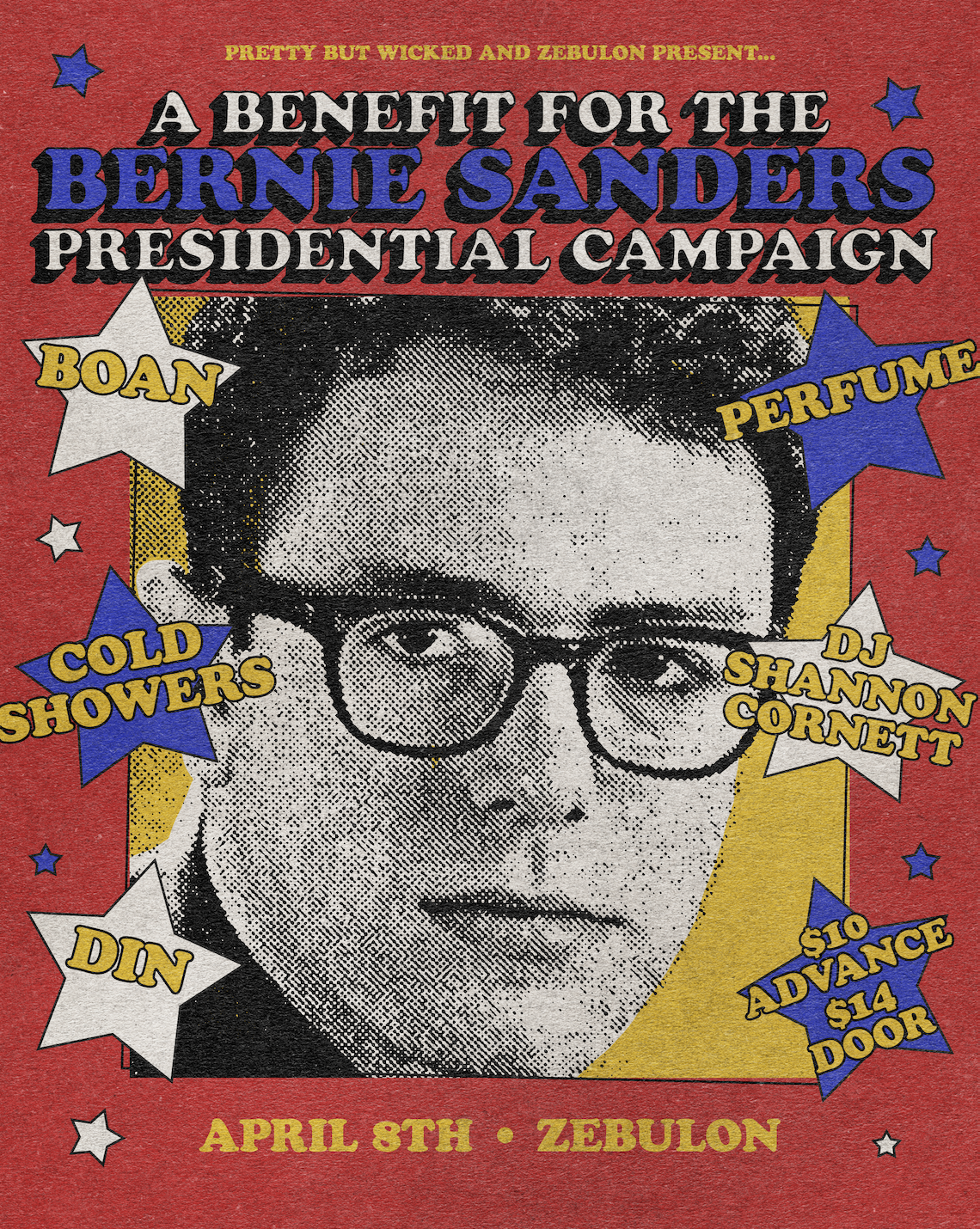 A Bernie Sanders Benefit featuring BOAN, Cold Showers, Perfume, DIN