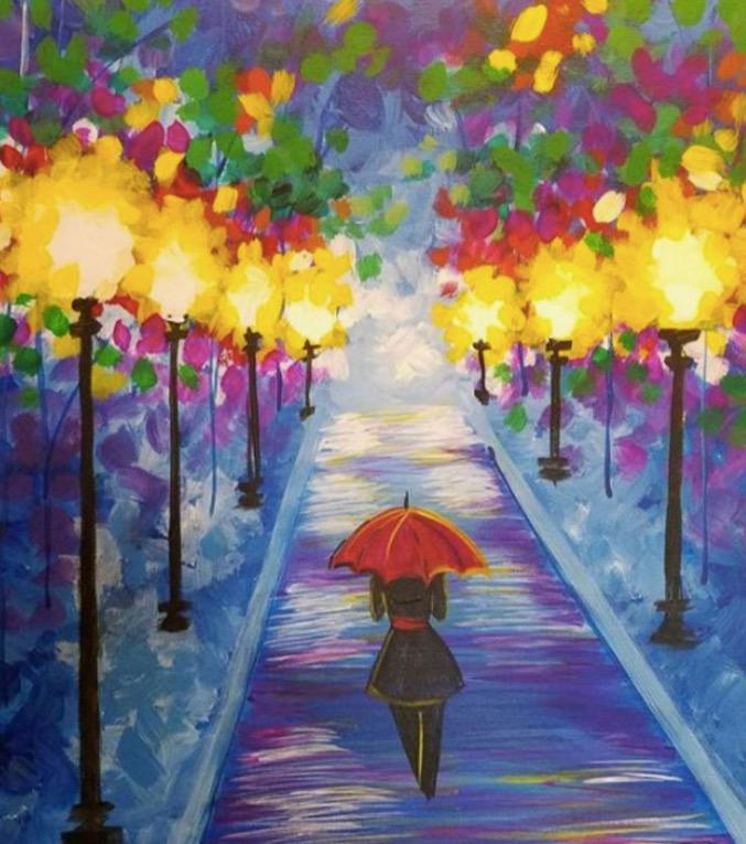 Paint Night in Canberra: Night Stroll