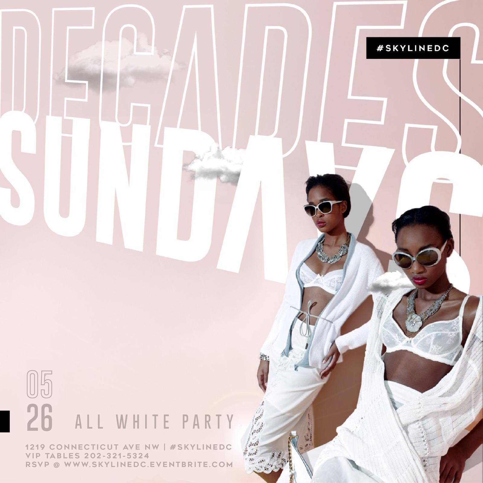 ALL WHITE DayParty | Decades Sundays Memorial Day Weekend [Sun 05.24]