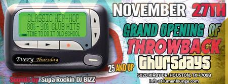 Grand Opening of Throwback Thursdays