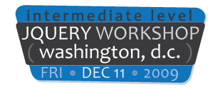 jQuery Workshop: Washington, D.C. - Intermediate Level