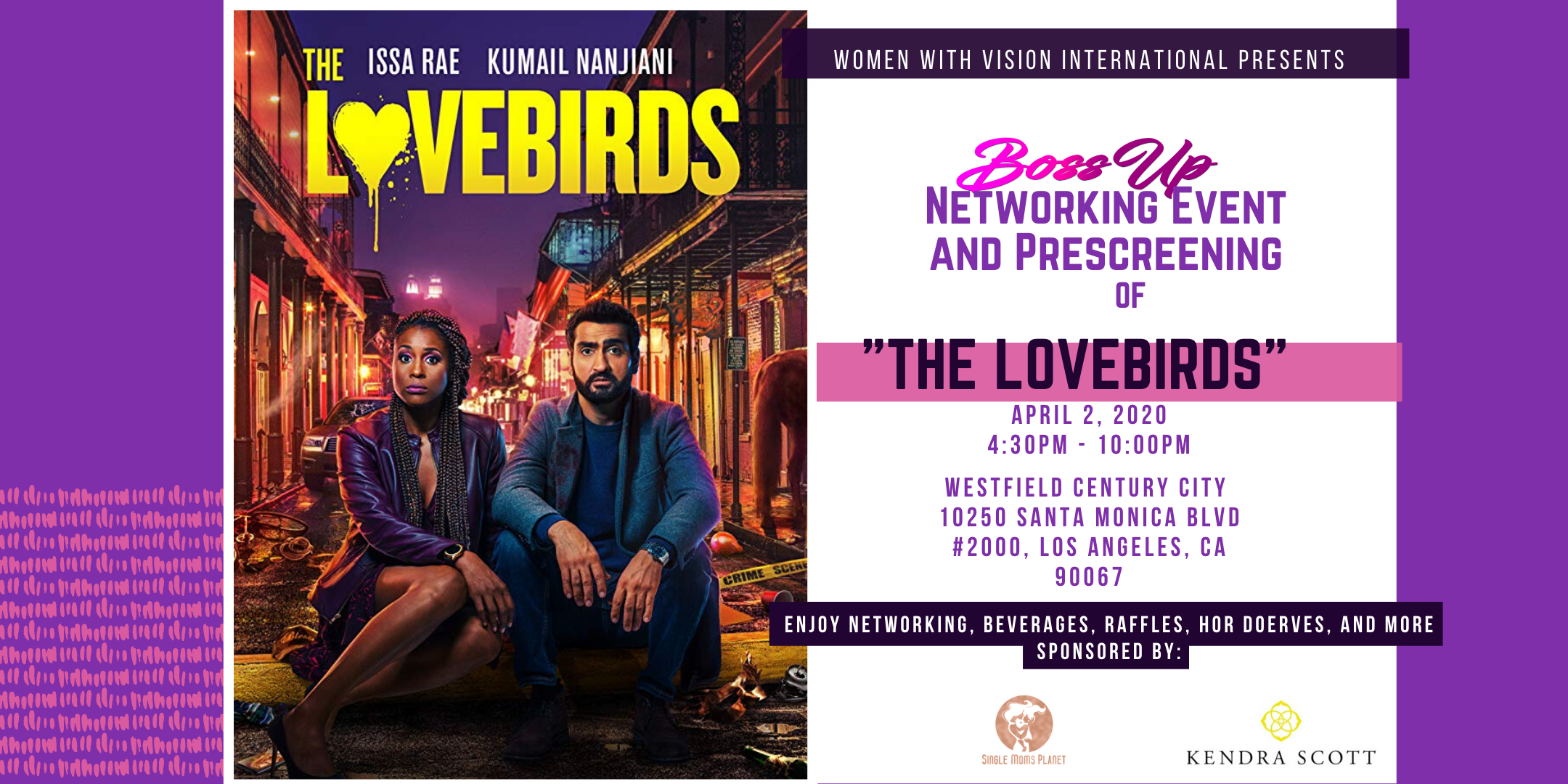 "BossUp Networking Event and ""The LoveBirds"" Movie Prescreening"