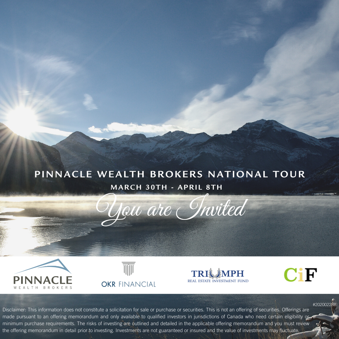 Pinnacle Wealth Brokers National Tour - Edmonton March 30th