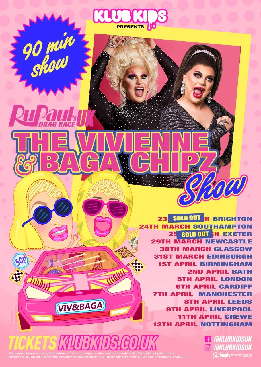 Klub Kids GLASGOW presents The Vivienne & Baga Chipz Show (ages 14+)