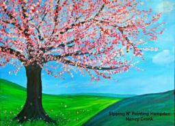 Paint Wine Denver Cherry Tree Wed April 8th 6:30pm $35