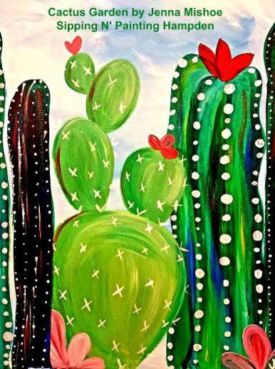 Paint Wine Denver Cactus Garden Sun April 5th 1:30pm $30