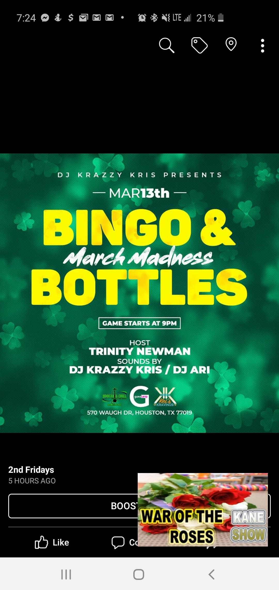 Bingo & Bottles @ 2nd Fridays