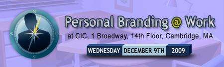 Personal Branding @ Work - Cambridge 12/9