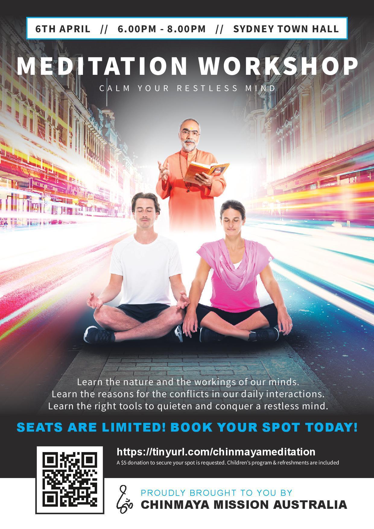 Meditation Workshop @ Sydney Town Hall (EVENT POSTPONED)