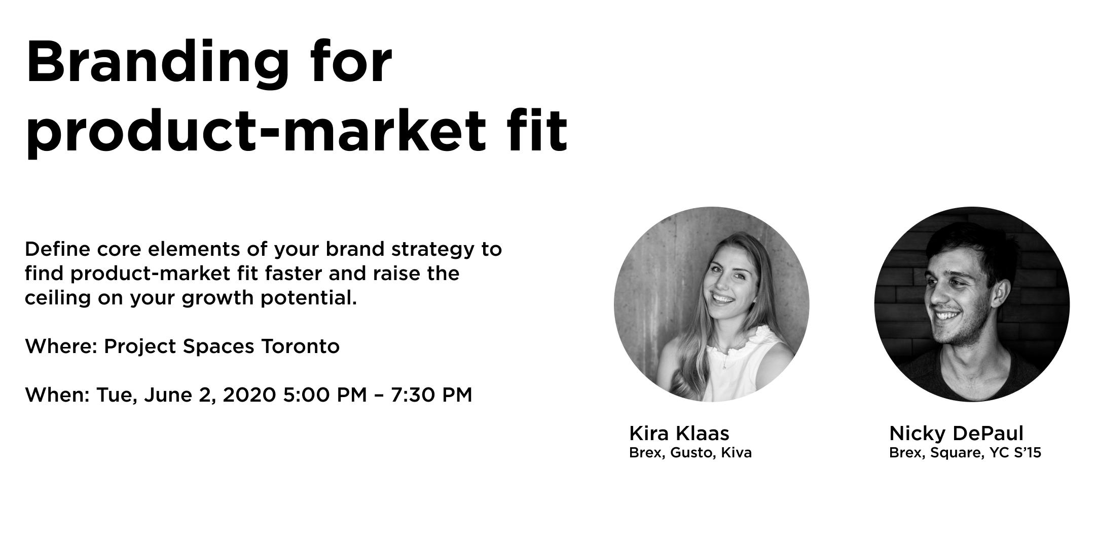 Branding for product-market fit: A workshop for startup leaders