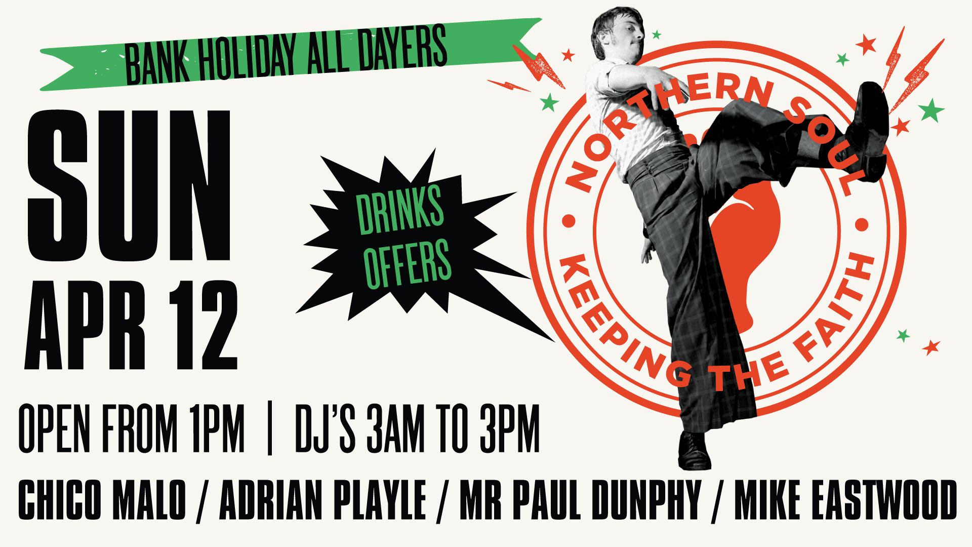 Northern Soul All Dayer - Bank Holiday