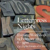 Letterpress Nights: 19 February