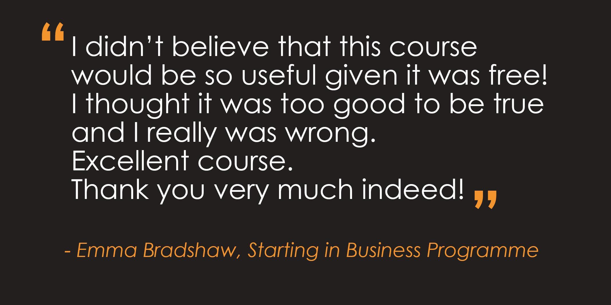 Starting in Business Programme   Nottingham