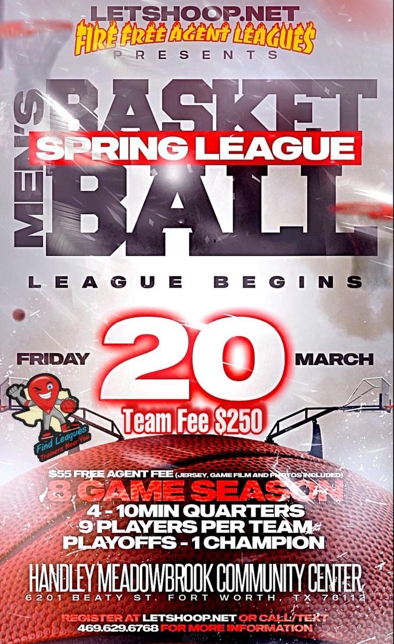 Mens Spring Basketball League @ Handley Meadowbrook Community Center