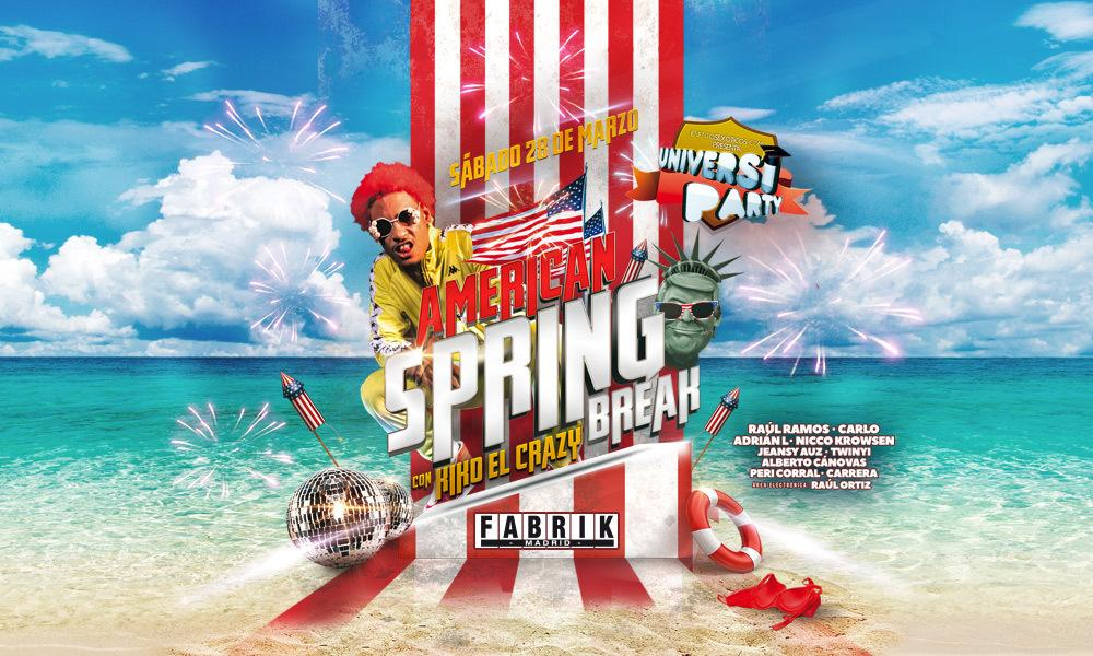 Universiparty: American Spring Break! en FABRIK