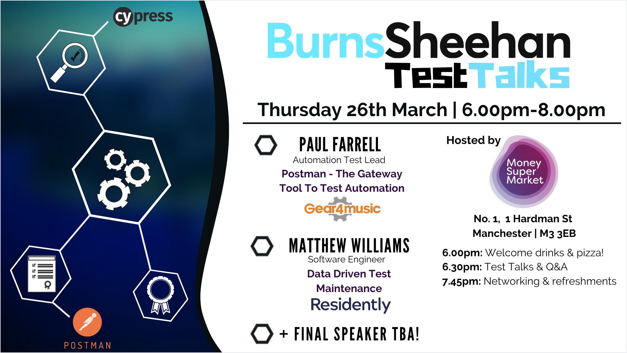 Burns Sheehan Test Talks Hosted By MoneySuperMarket