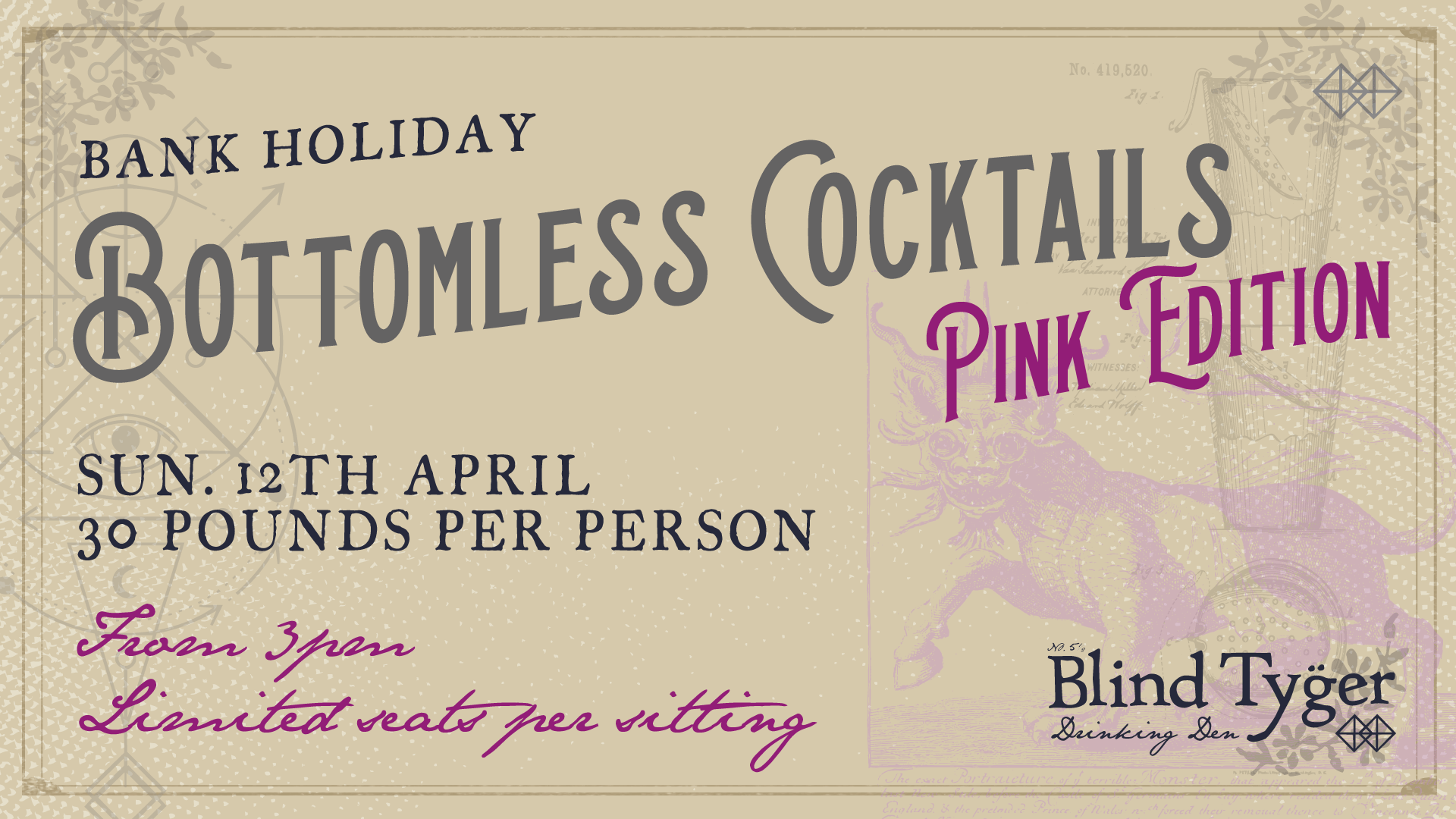 Bottomless Cocktails Pink Edition - Bank Holiday - Leeds
