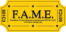F.A.M.E. (Foundation of Artists Mentored in Entertainment) is a not-for-profit 501(c)(3) organization logo