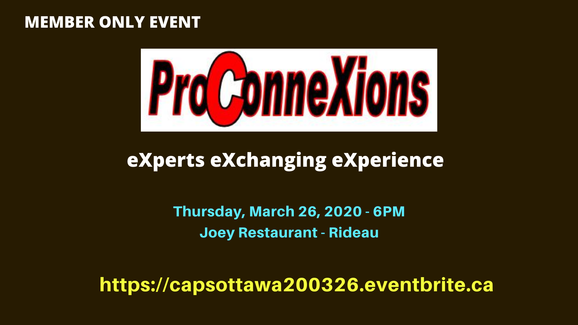CAPS Ottawa Pro ConneXions Event - For Members Only