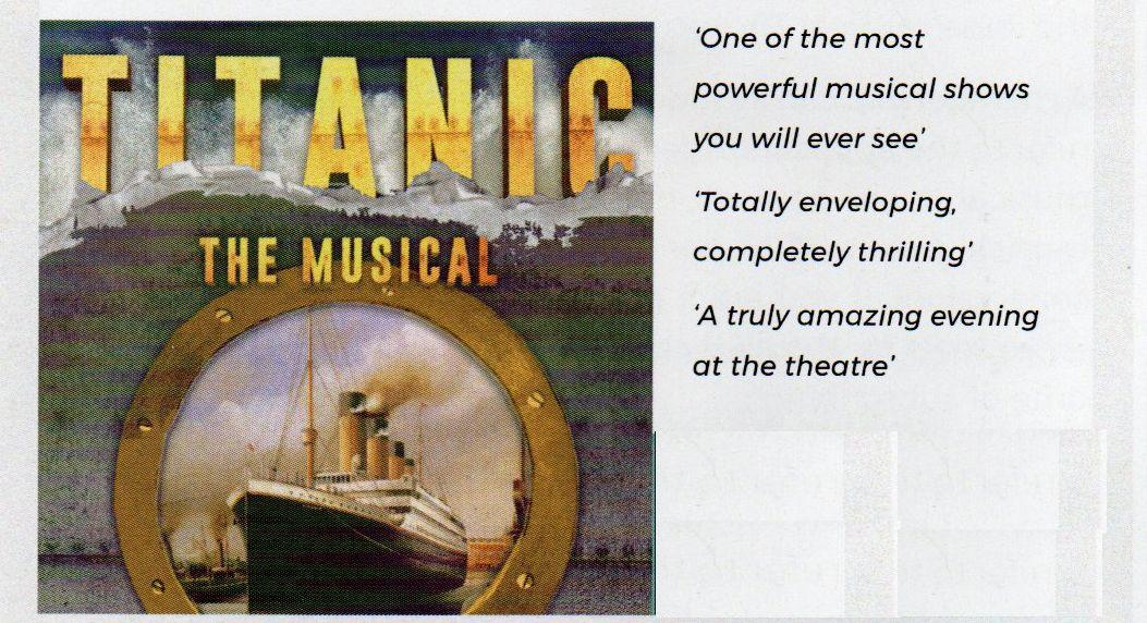 Titanic The Musical, by Therry Dramatic Society