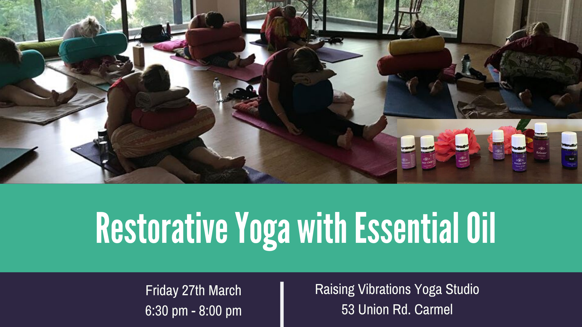 Restorative Yoga With Essential Oil 27 Mar 2020
