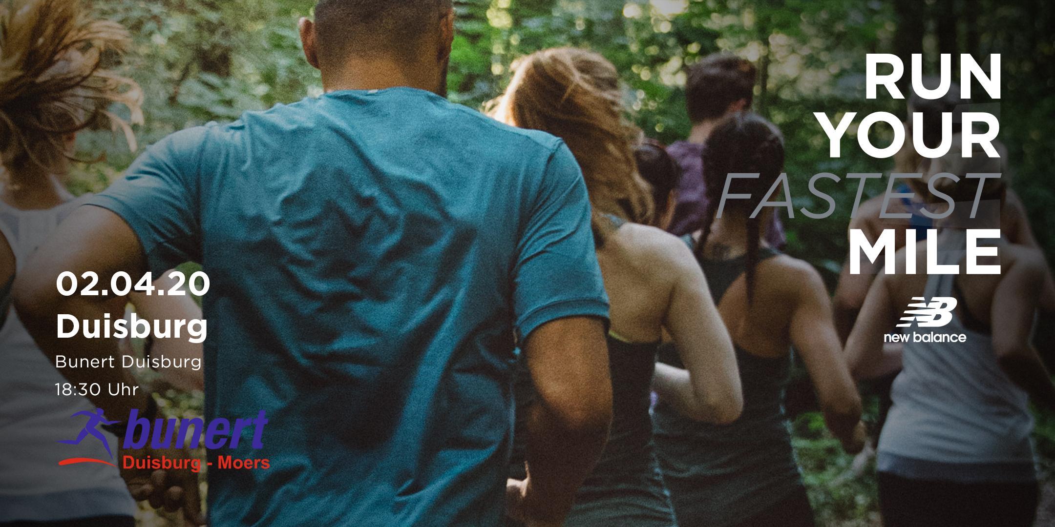 New Balance Run Your Fastest Mile-Event / Laufsport Bunert Duisburg