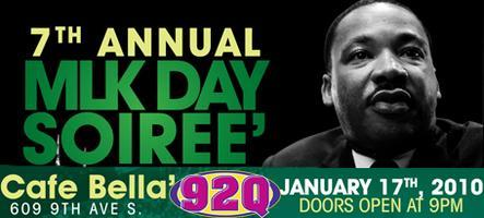 7th Annual MLK Day Soiree @ Cafe' Bella
