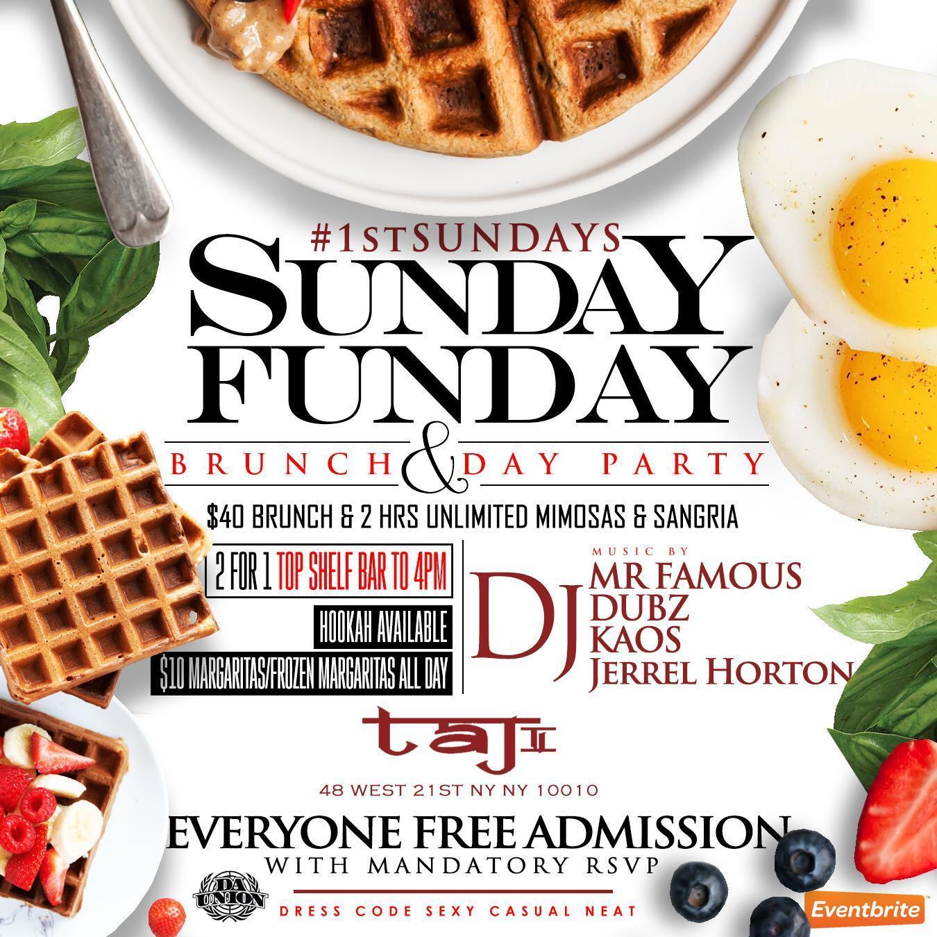 Sunday Funday Bottomless Brunch & Day Party
