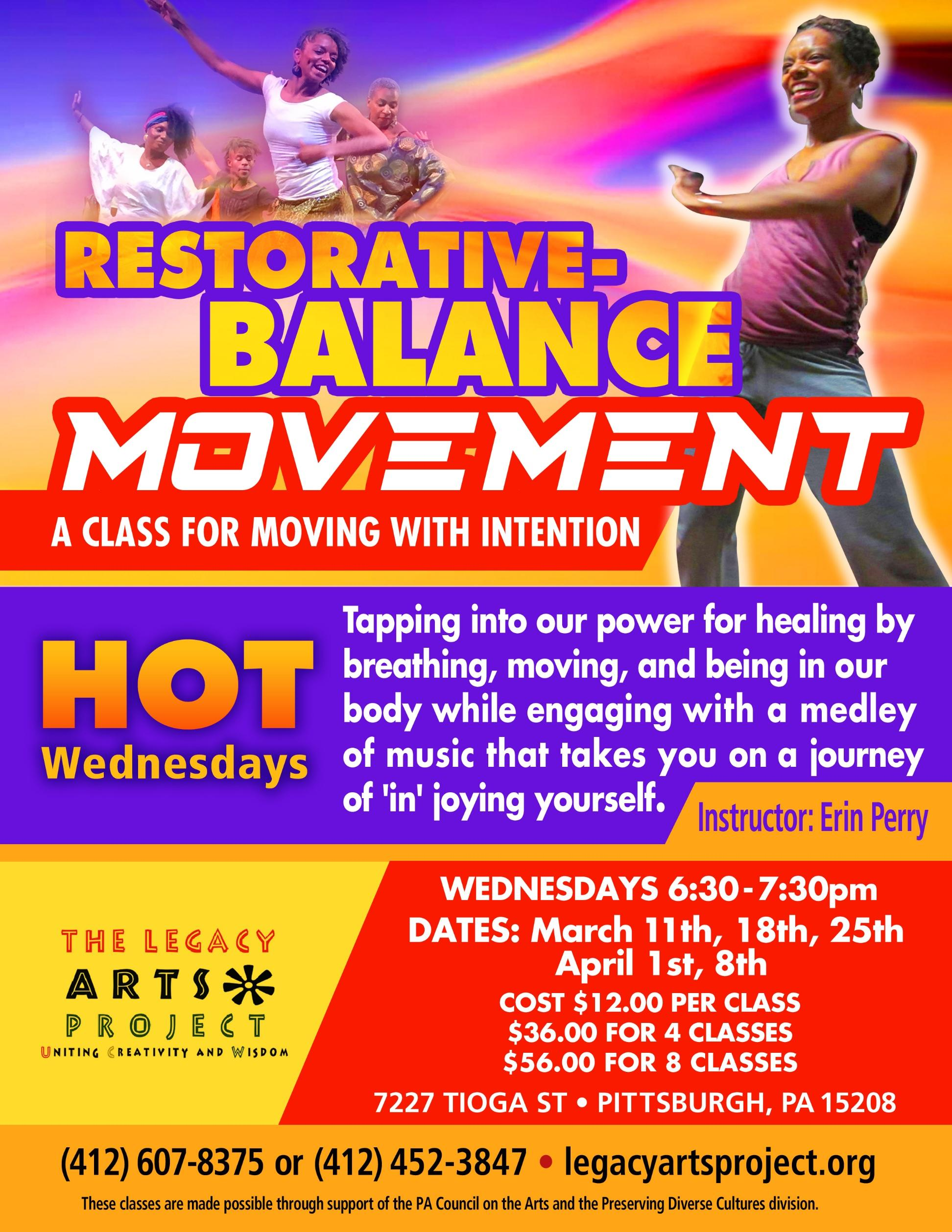 Hot Wednesdays • Restorative Balance Movement with Erin Perry