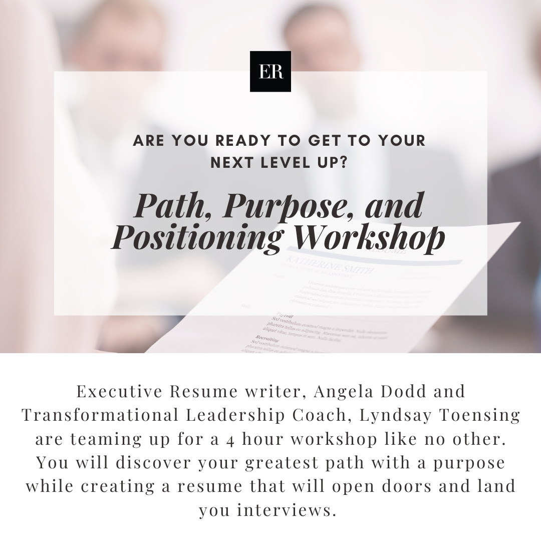 Path , Purpose, and Positioning Workshop