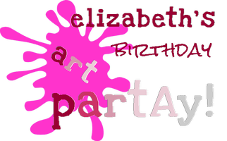 Elizabeth's 13th Birthday art pART'ay!