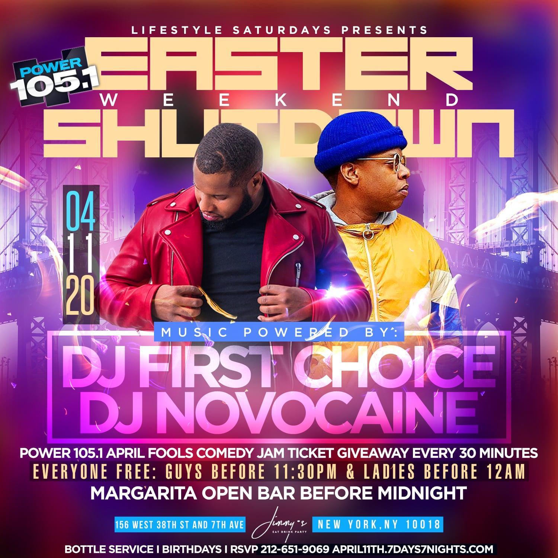 Power 105.1 Easter Weekend Shutdown w| Margarita Open Bar + Giveaways!