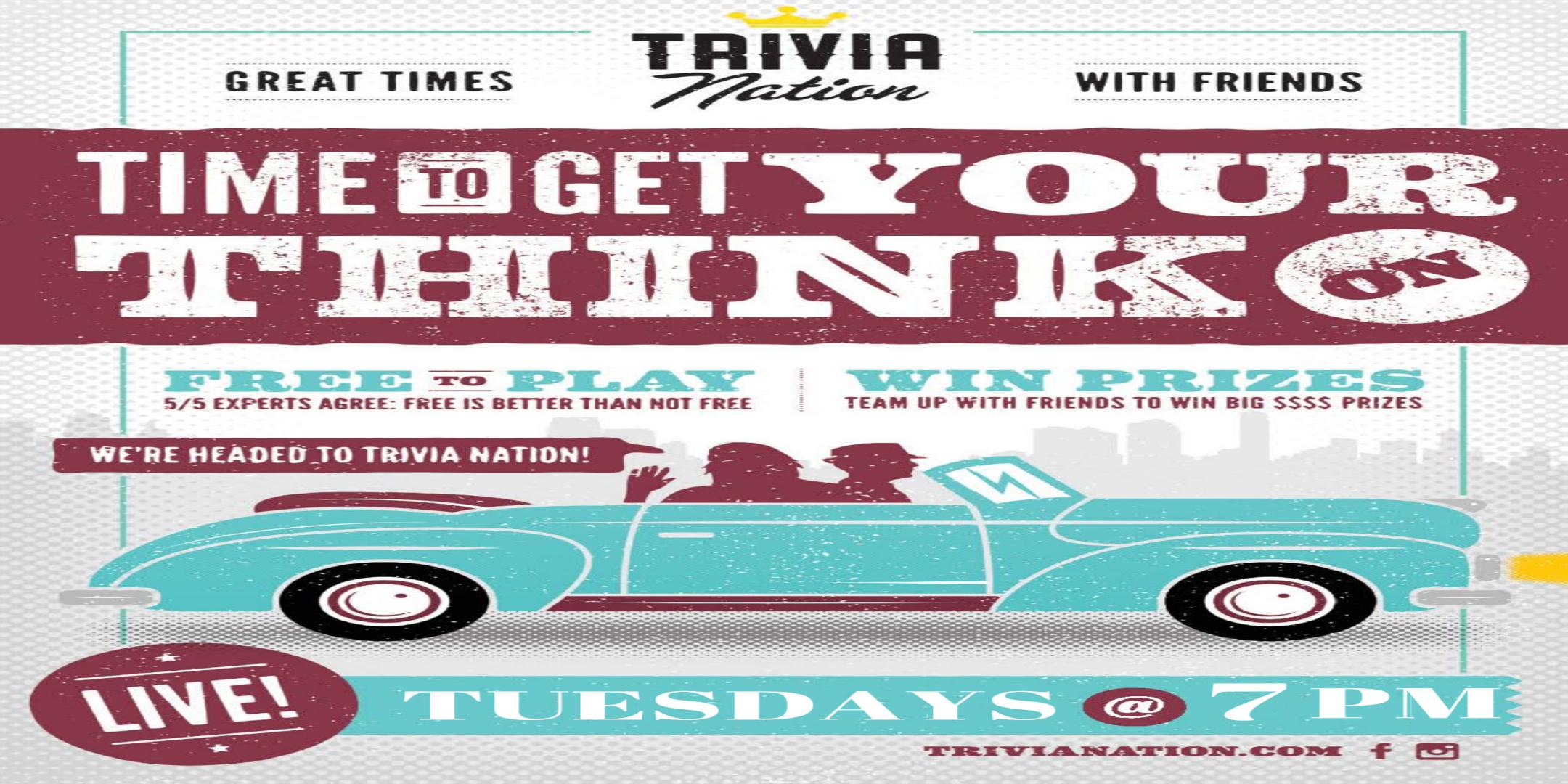 Trivia Nation Free Live Trivia at Irish 31 - Westchase Tuesday's at 7 pm