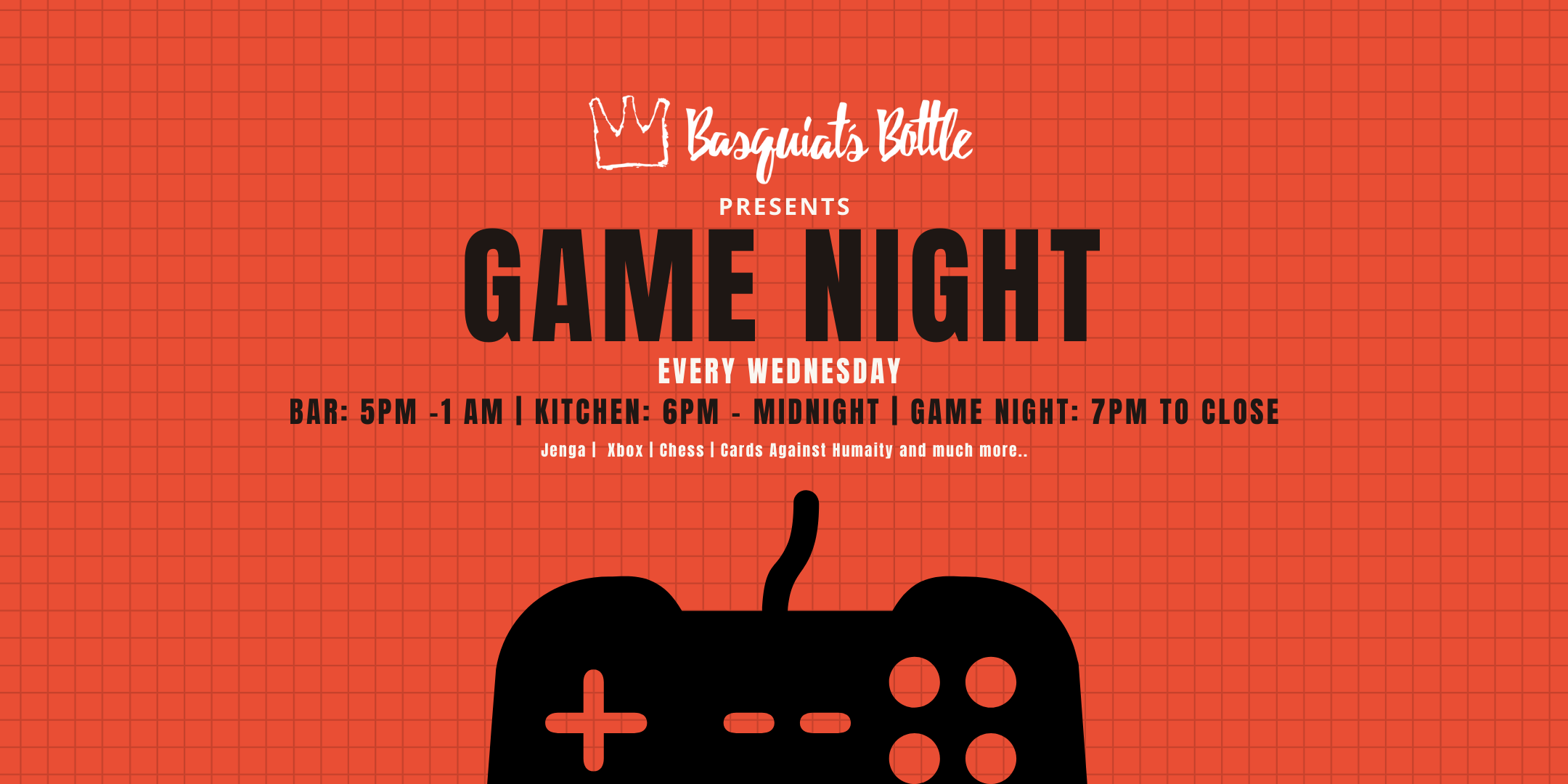 Basquiat's Bottle Presents Game Night
